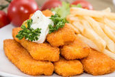 Fish Fingers with Remoulade — Stock Photo