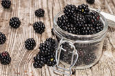 Blackberries in a glass — Stock Photo