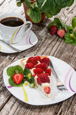 Vintage Table with Cake — Stock Photo
