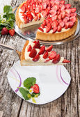 Pie on a cake lifter — Stock Photo