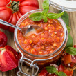 Fresh made Bruschetta Sauce - Stock Photo