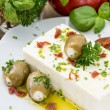 Stock Photo: Antipasti (FetCheese) on small plate