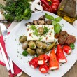 Stock Photo: Fresh Antipasto on plate