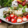 Fresh Antipasto on a plate — Stock Photo