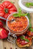 Fresh made Bruschetta Sauce — Stock Photo