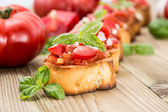 Fresh made Antipasti (Bruschetta) — Stock Photo