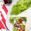 Fresh made Wrap — Stock Photo