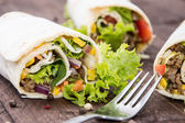 Some fresh made Wraps — Stock Photo