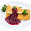 Fried Gouda on white — Stock Photo