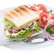 Tuna Sandwich isolated on white — Zdjęcie stockowe