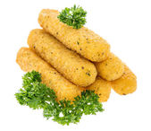 Mozzarella Sticks isolated on white — Stock Photo