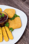 Fingerfood on a plate — Stock Photo