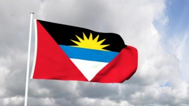 Flag from Antigua and Barbuda — Stock Video