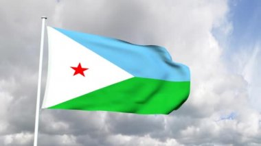 Flag of Djibouti — Stock Video