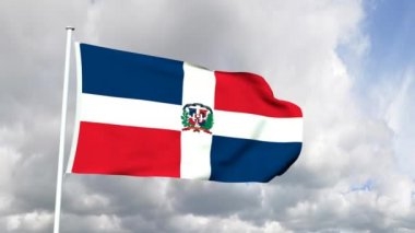 Flag of the Dominican Republic — Stock Video