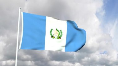 Flag of Guatemala — Stock Video