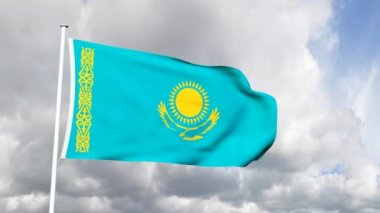 Flag of Kazakhstan — Stock Video
