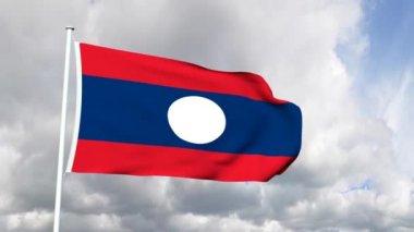 Flag of Laos — 图库视频影像