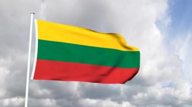 Flag of Lithuania — Stock Video