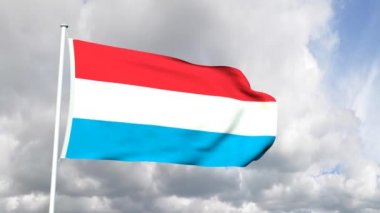 Flag of Luxembourg — Stock Video