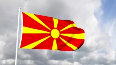 Flag of Macedonia — Stock Video