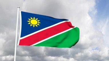 Flag of Namibia — Stock Video