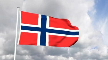 Flag of Norway — Stock Video