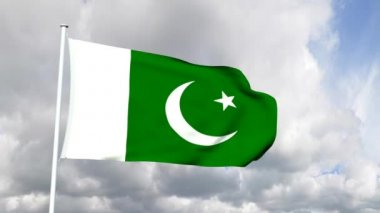 Flag of Pakistan — Stock Video