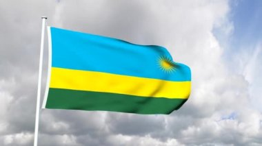 Flag of Rwanda — Stock Video