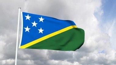 Flag of the Solomon Islands — Vídeo stock