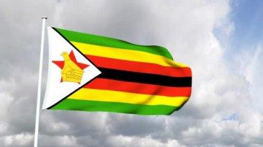 Flag of Zimbabwe — Stock Video