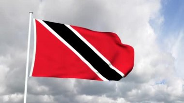 Flag of Trinidad and Tobago — Stock Video