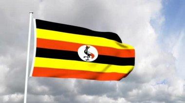 Flag of Uganda — Stock Video