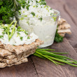 Crispbread, Cream Chesse and Chives — Stock Photo #13248857