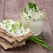 Cream Cheese on Crispbread — Stock Photo #13248895
