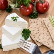 Camembert with Crispbread and Herbs — Stock Photo #13249079