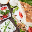Homemade Doner - Stock Photo
