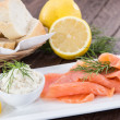 Fresh Salmon on a plate — Stock Photo