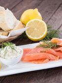 Fresh Salmon on a plate — Stock Photo