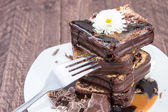 Heap of Chocolate Cake — Stock Photo