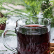 Fresh made mulled wine — Stock Photo