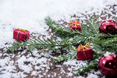 Fir branches with snow — Stock Photo