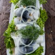 Herring Filets on a plate — Stock Photo #13877712
