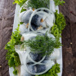Herring Filets on a plate — Stock Photo