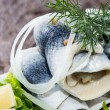 Herring Filets on a plate — Stock Photo #13877715