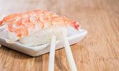 Nigiri with prawns — Stock Photo
