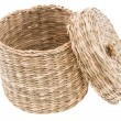 Small Basket on white — Stock Photo