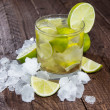 Glass of Caipirinha with Crushed Ice — Stock Photo #14400923