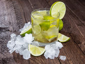 Glass of Caipirinha with Crushed Ice — Stock Photo