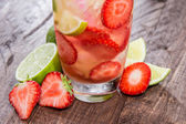 Fresh made Strawberry Caipirinha — Stock Photo